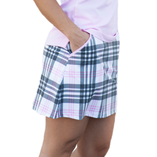 PINKS & PLAID SKORT - 2GG Apparel