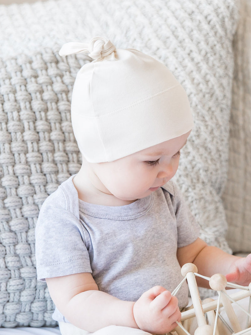 Classic Knotted Hat - Baby : Accessories : Hats - Colored Organics