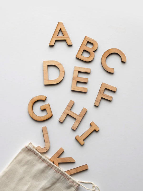 Wooden Uppercase Alphabet Set