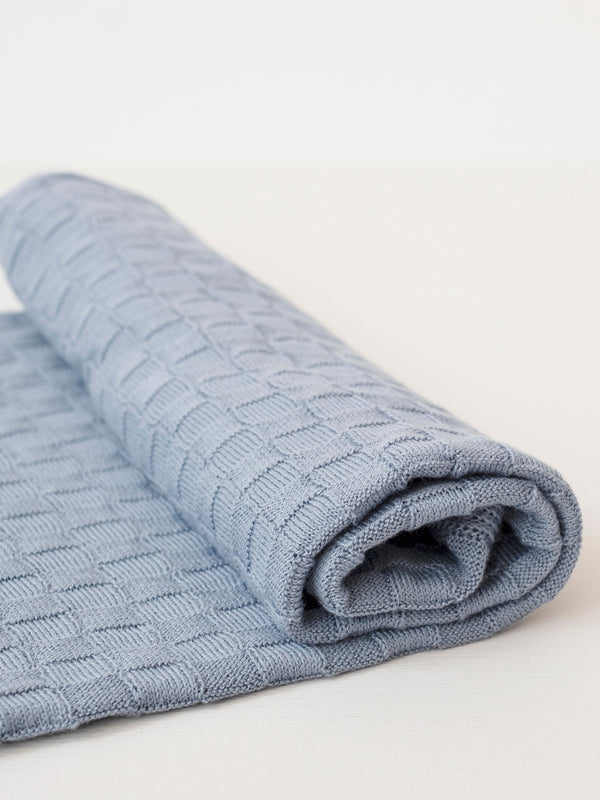 Organic Cotton Basketweave Baby Blanket