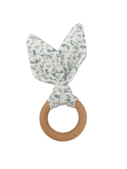 Crinkle Bunny Ears Teether Ring