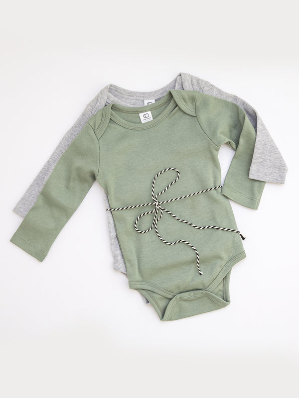 2-Pack Organic Long Sleeve Bodysuits