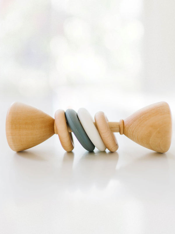 Silicone + Wood Rattle