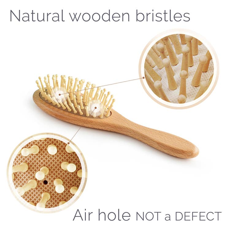 Wooden Hair Brush Set