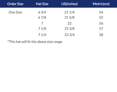 Conner Hats Sizing