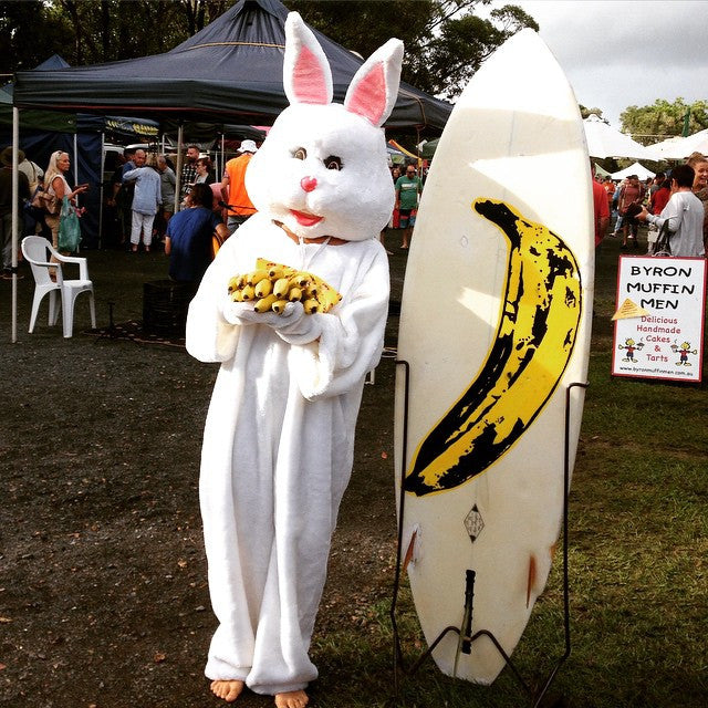the Banana bunny scared the Easter bunny off