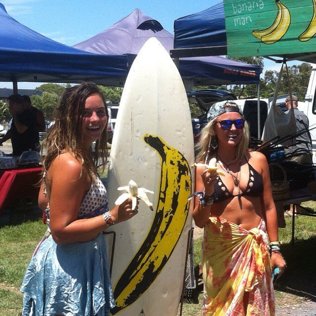 happy customers with the banana board