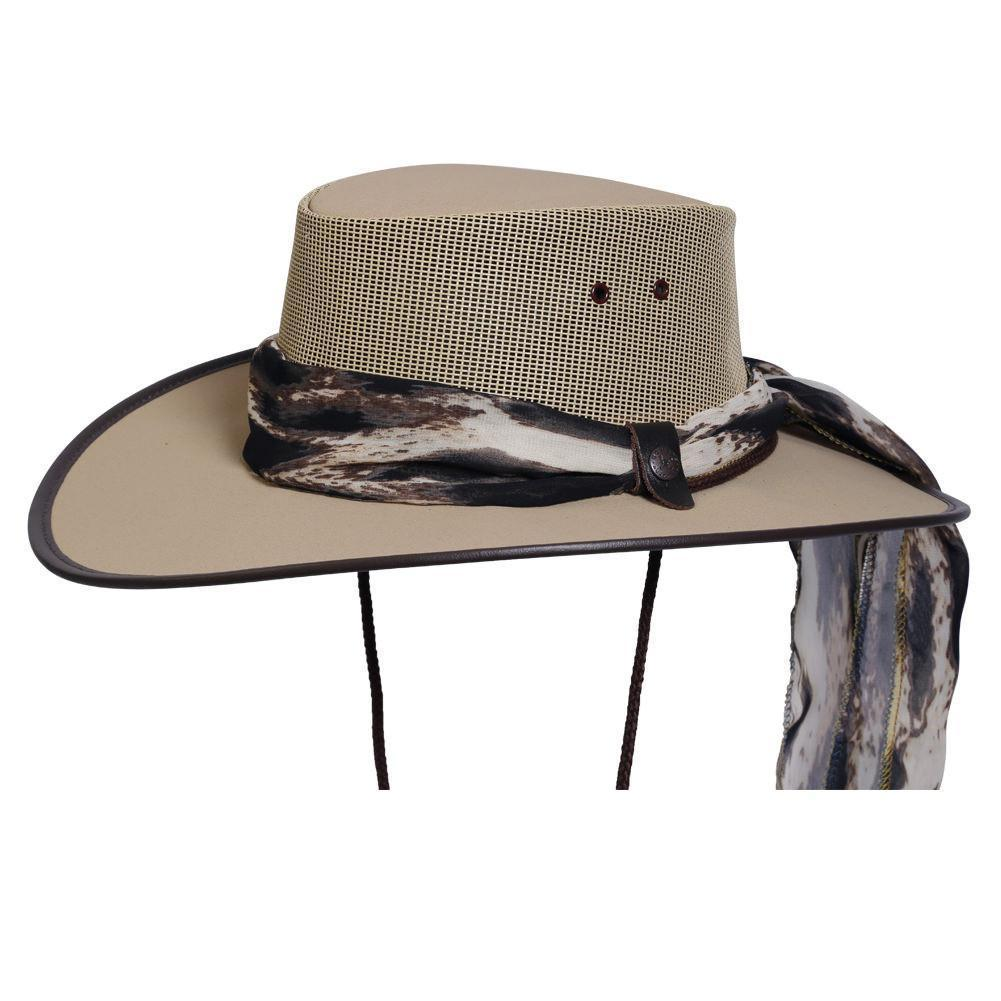 20f32cd632f Conner Hats Aussie Hats Beige   Small BC Hats Cool as a Breeze Canvas  Ladies Hat