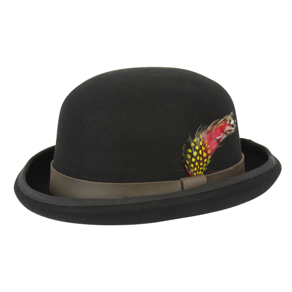 Conner Hats Bowler/Derby Hats Black / Small Historic Australian Wool Bowler