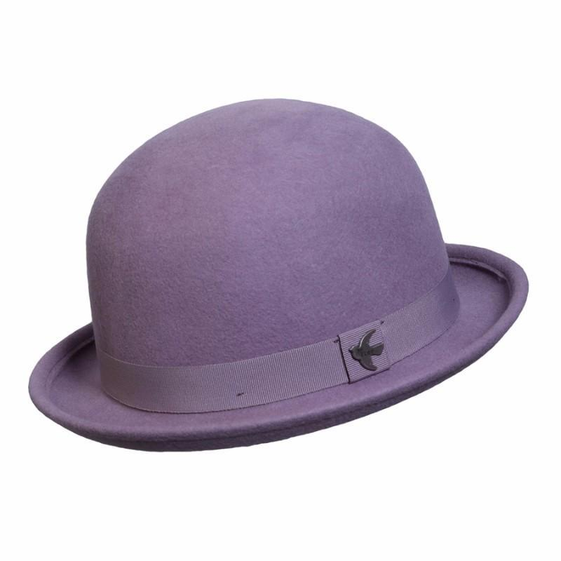 Conner Hats Bowler/Derby Hats Lilac / One Size St. George Wool Bowler Hat