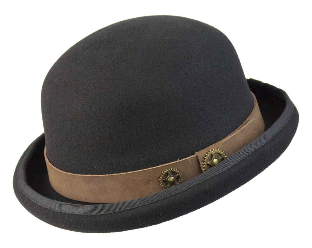Conner Hats Bowler/Derby Hats Black / Small Steam Man Steampunk Bowler
