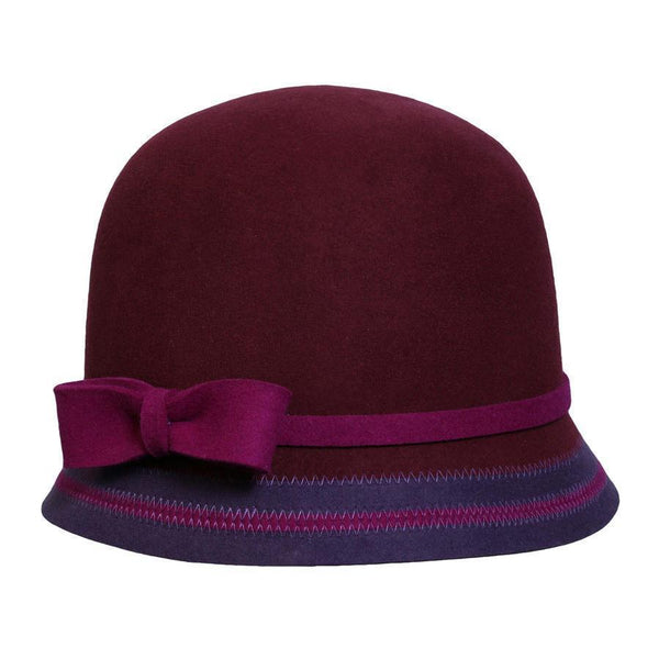 Conner Hats Cloche Hats Mulberry / One Size Fleet Street Cloche Hat