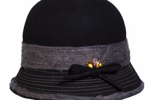 Conner Hats Cloche Hats Black / One Size Gentle Cloche Hat