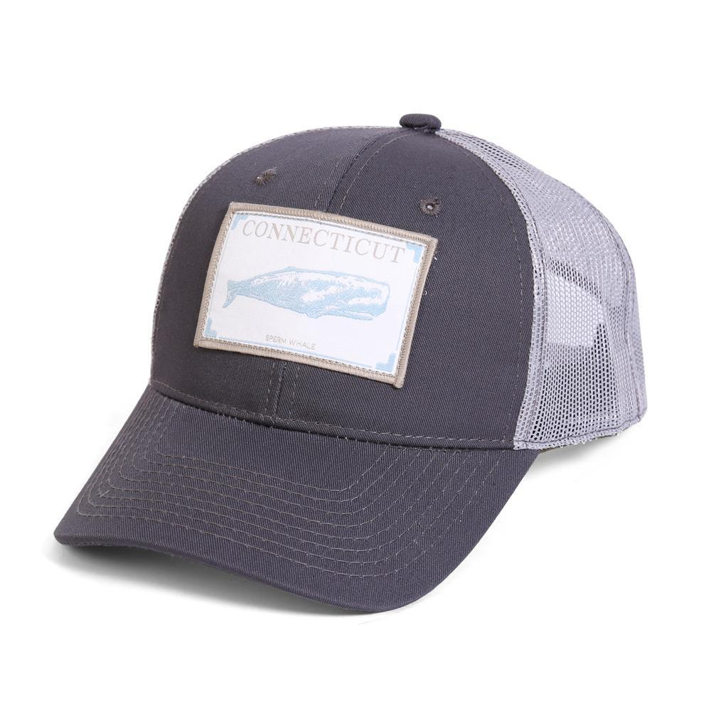 Conner Hats Grey/Light Grey / One Size Connecticut Sperm Whale State Wildlife Cap