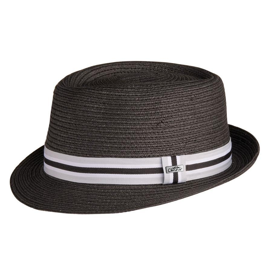 0b21056fef8 Conner Hats Fedoras Black   Small Medium 5th Avenue Straw Pork Pie Fedora