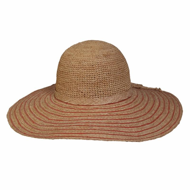 Conner Hats Floppy Hats Coral   One Size The Riveria Wide Brim Sun Hat 21c62c47f07