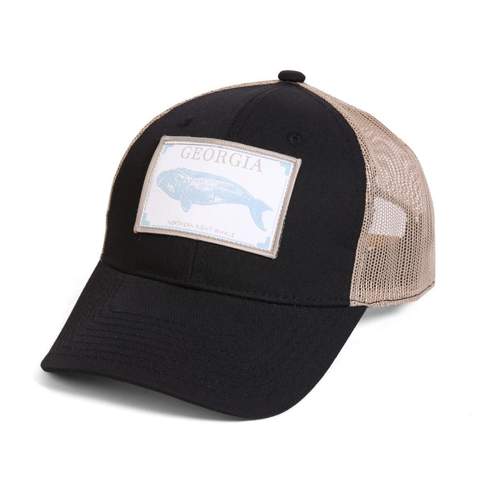 Conner Hats Black/Tan / One Size Georgia Northern Right Whale State Wildlife Cap