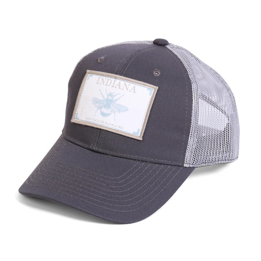 Conner Hats Grey/Light Grey / One Size Indiana Rusty Patch Bumble Bee State Wildlife Cap