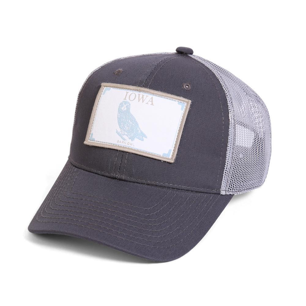 Conner Hats Grey/Light Grey / One Size Iowa Barn Owl State Wildlife Cap