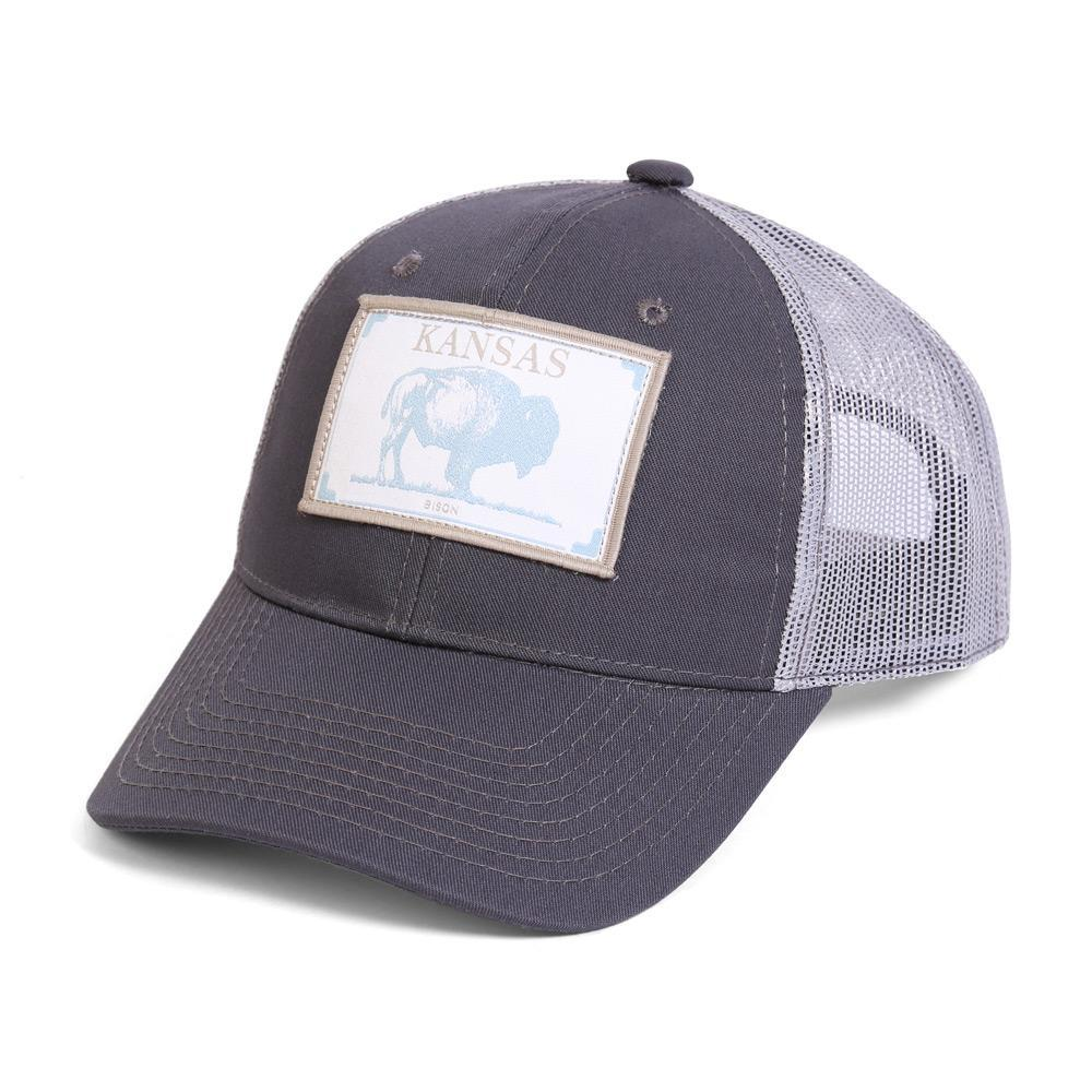 Conner Hats Grey/Light Grey / One Size Kansas Bison State Wildlife Cap
