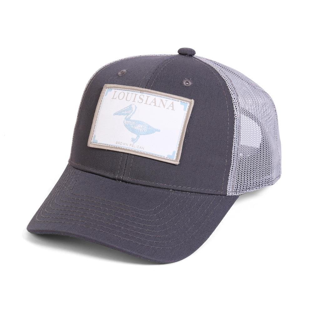 Conner Hats Grey/Light Grey / One Size Louisiana Brown Pelican State Wildlife Cap