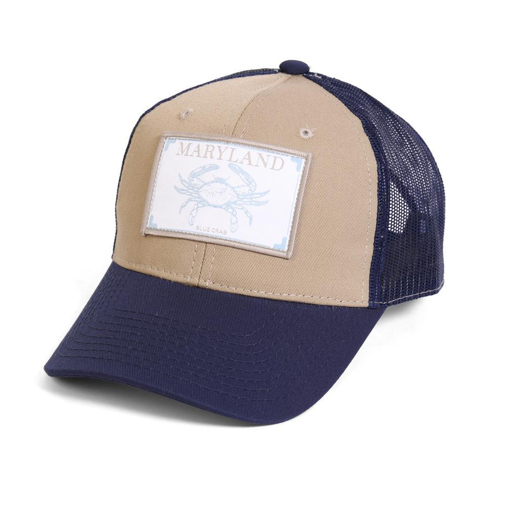 Conner Hats Khaki/Navy / One Size Maryland Blue Crab State Wildlife Cap