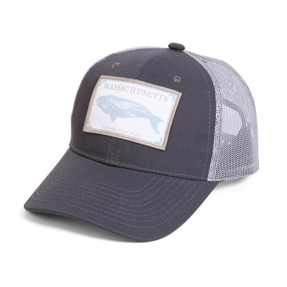 Conner Hats Grey/Light Grey / One Size Massachusetts Northern Right Whale State Wildlife Cap