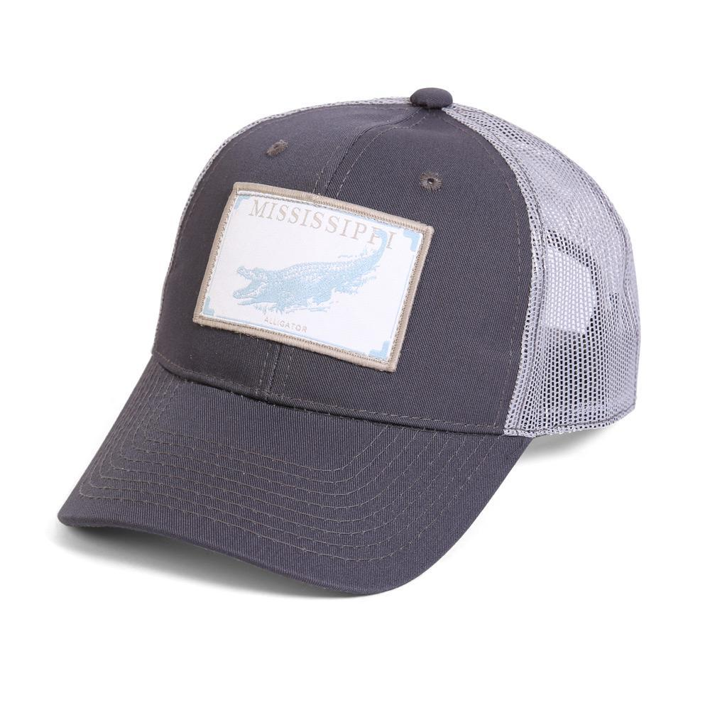 Conner Hats Grey/Light Grey / One Size Mississippi Alligator State Wildlife Cap