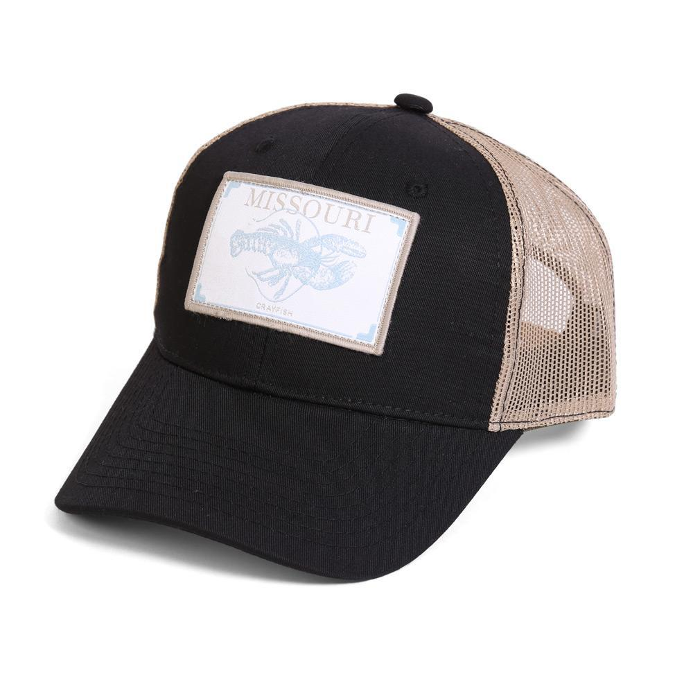 Conner Hats Black/Tan / One Size Missouri Crayfish State Wildlife Cap