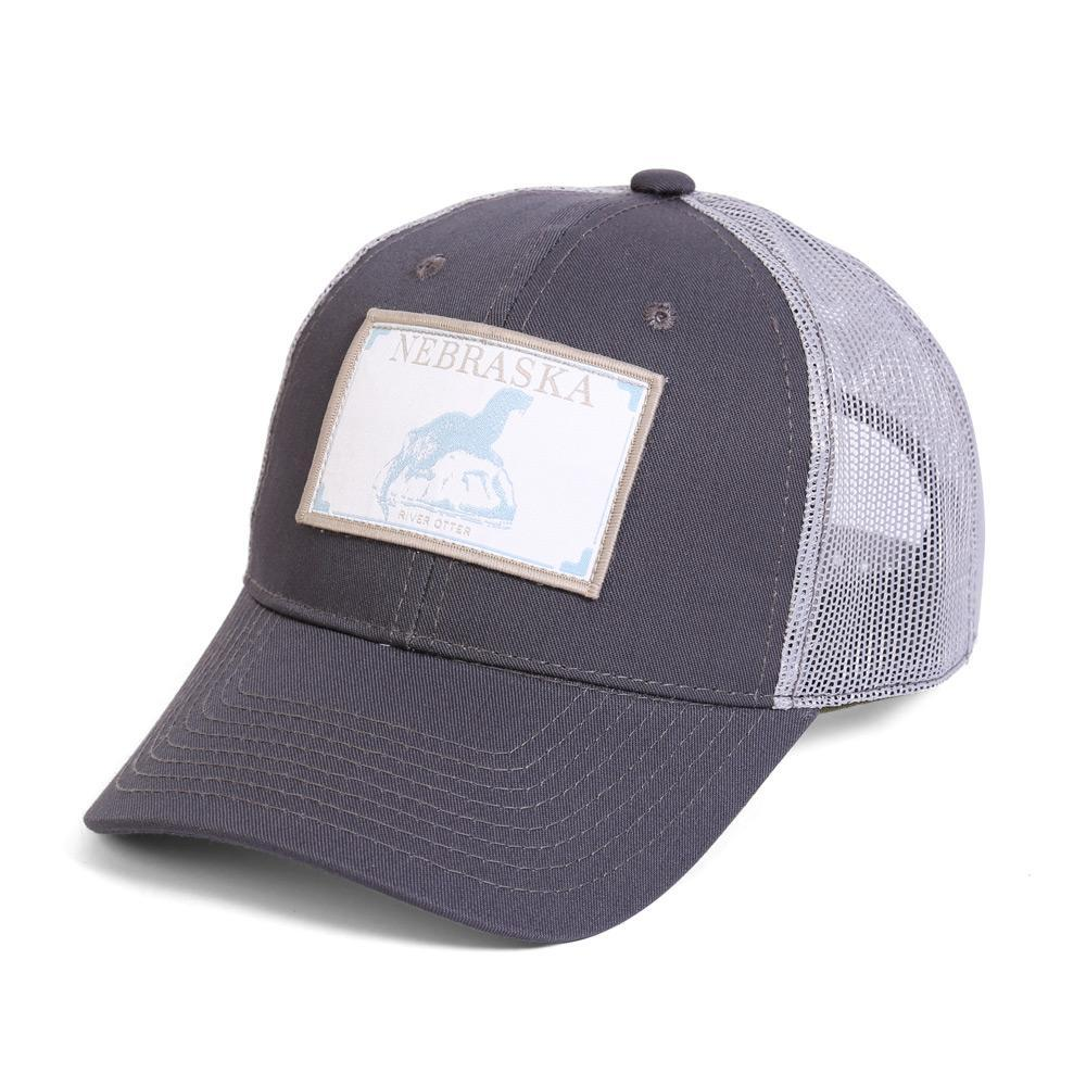 Conner Hats Grey/Light Grey / One Size Nebraska River Otter State Wildlife Cap