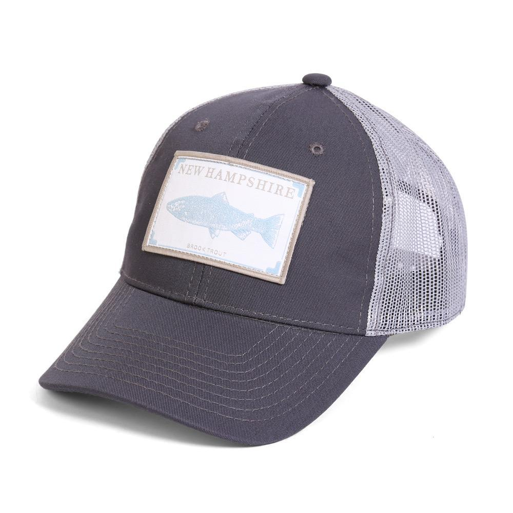 Conner Hats Grey/Light Grey / One Size New Hampshire Brook Trout State Wildlife Cap