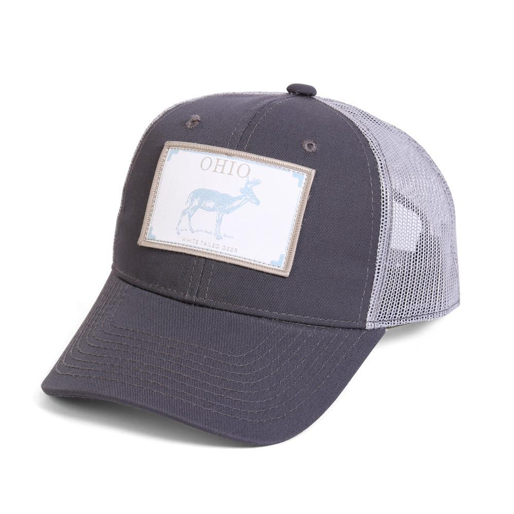 Conner Hats Grey/Light Grey / One Size Ohio White Tailed Deer State Wildlife Cap