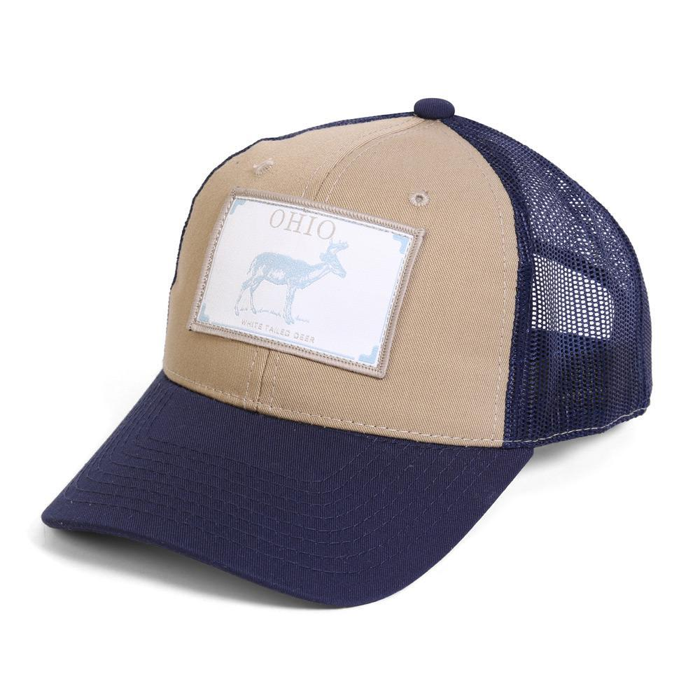 Conner Hats Khaki/Navy / One Size Ohio White Tailed Deer State Wildlife Cap
