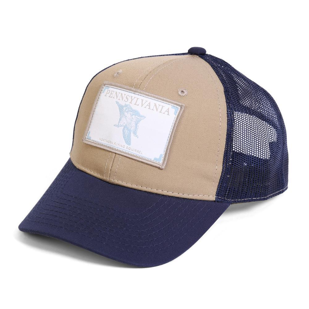 Conner Hats Khaki/Navy / One Size Pennsylvania Northern Flying Squirrel State Wildlife Cap