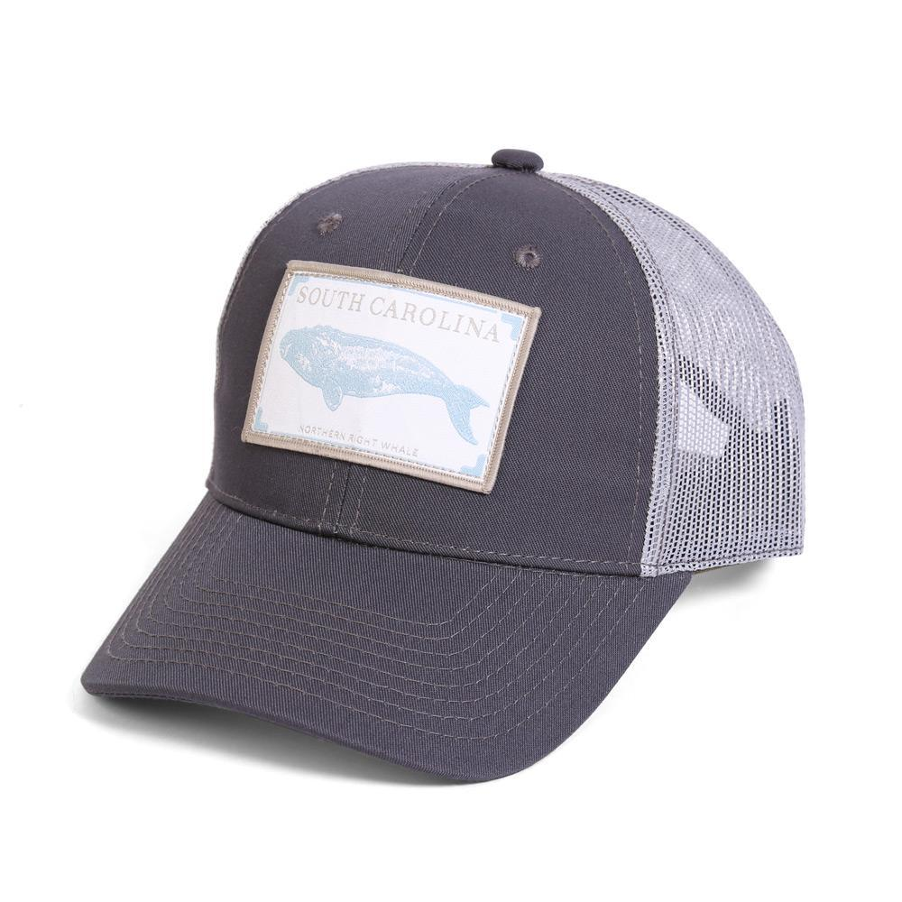 Conner Hats Grey/Light Grey / One Size South Carolina Northern Right Whale State Wildlife Cap