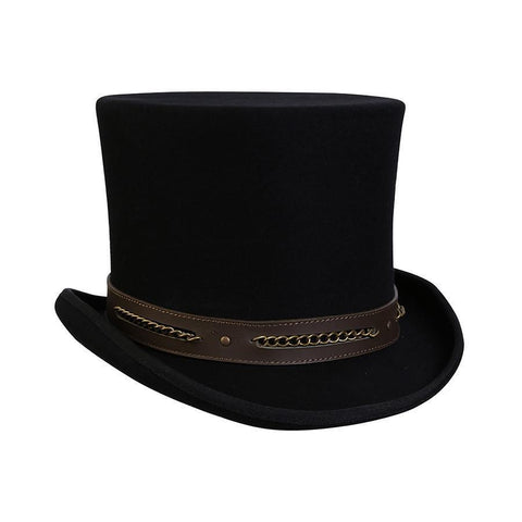 253fbbe4f08155 Chain Link Steampunk Top Hat | Conner Hats