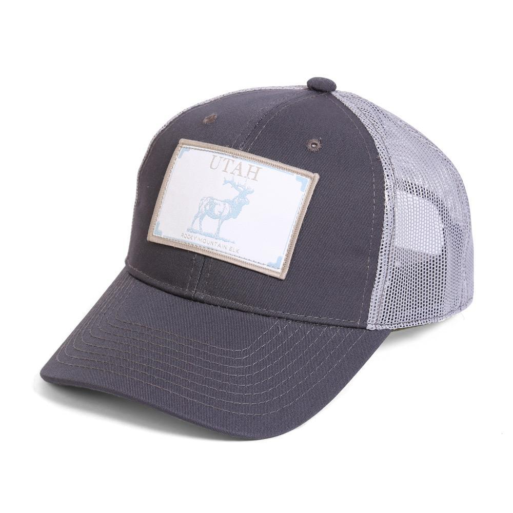 Conner Hats Grey/Light Grey / One Size Utah Rocky Mountain Elk State Wildlife Cap