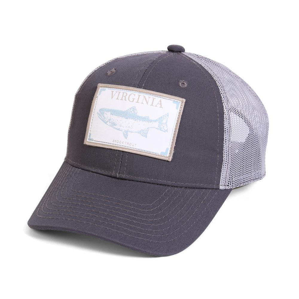 Conner Hats Grey/Light Grey / One Size Virginia Brook Trout State Wildlife Cap