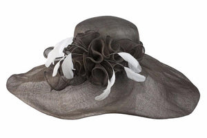 Conner Hats Wedding/Race Day Hats Brown / One Size Catherine the Great Straw Hat