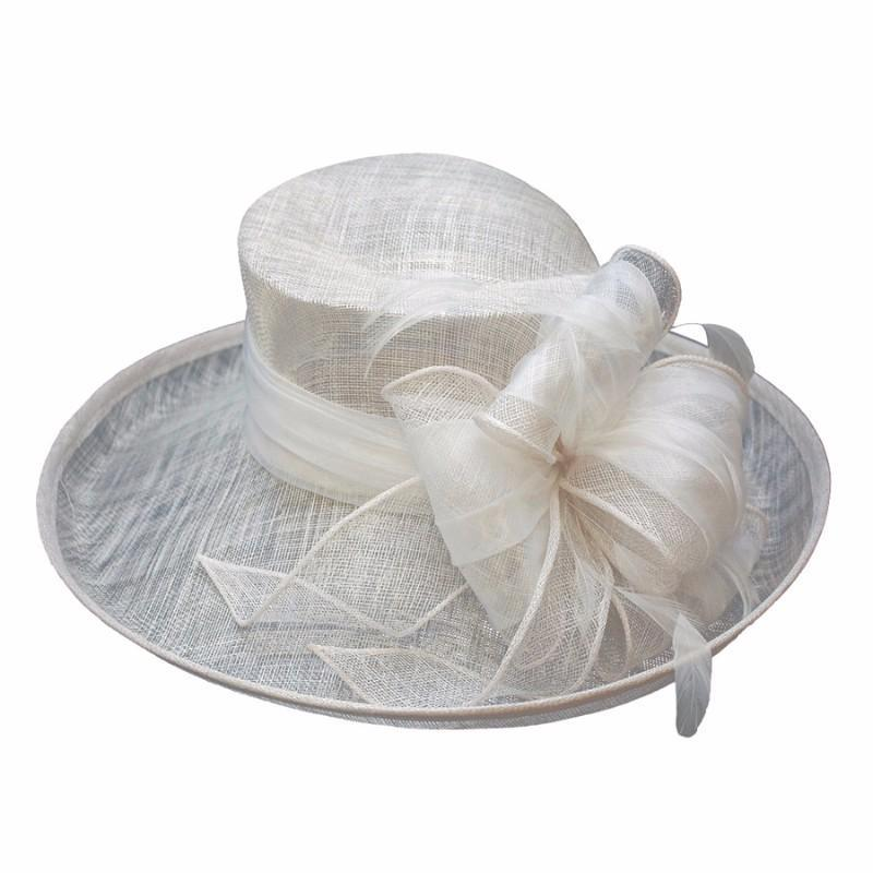 Conner Hats Wedding/Race Day Hats White / One Size Pippa at the Races Straw Hat