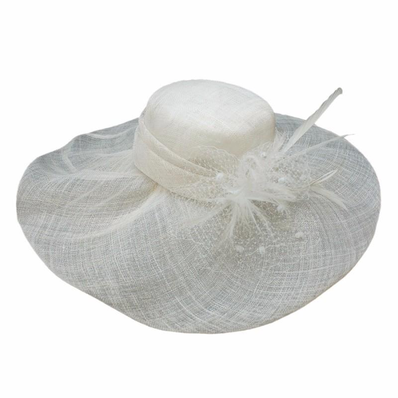 Conner Hats Wedding/Race Day Hats White / One Size Powder Puff Wide Brim Derby Hat
