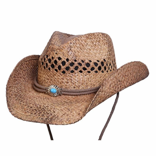 Conner Hats Western Hats Coffee / One Size Big Sky Western Shapeable Summer Straw Hat