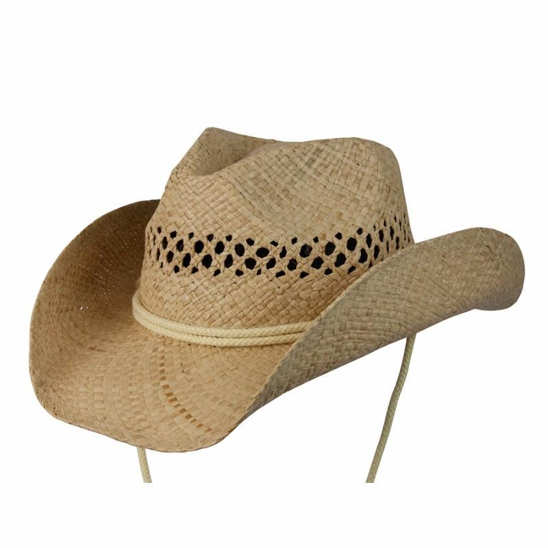 Conner Hats Western Hats Natural / One Size Coby Kids Western Raffia Hat