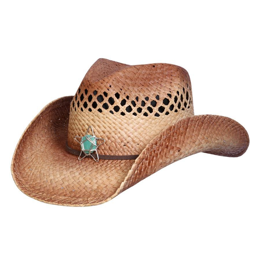 Conner Hats Western Hats Caramel / One Size North Star Western Raffia Hat