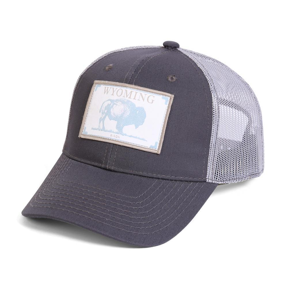 Conner Hats Grey/Light Grey / One Size Wyoming Bison State Wildlife Cap