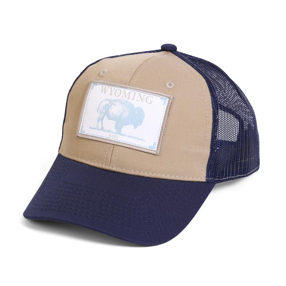 Conner Hats Khaki/Navy / One Size Wyoming Bison State Wildlife Cap