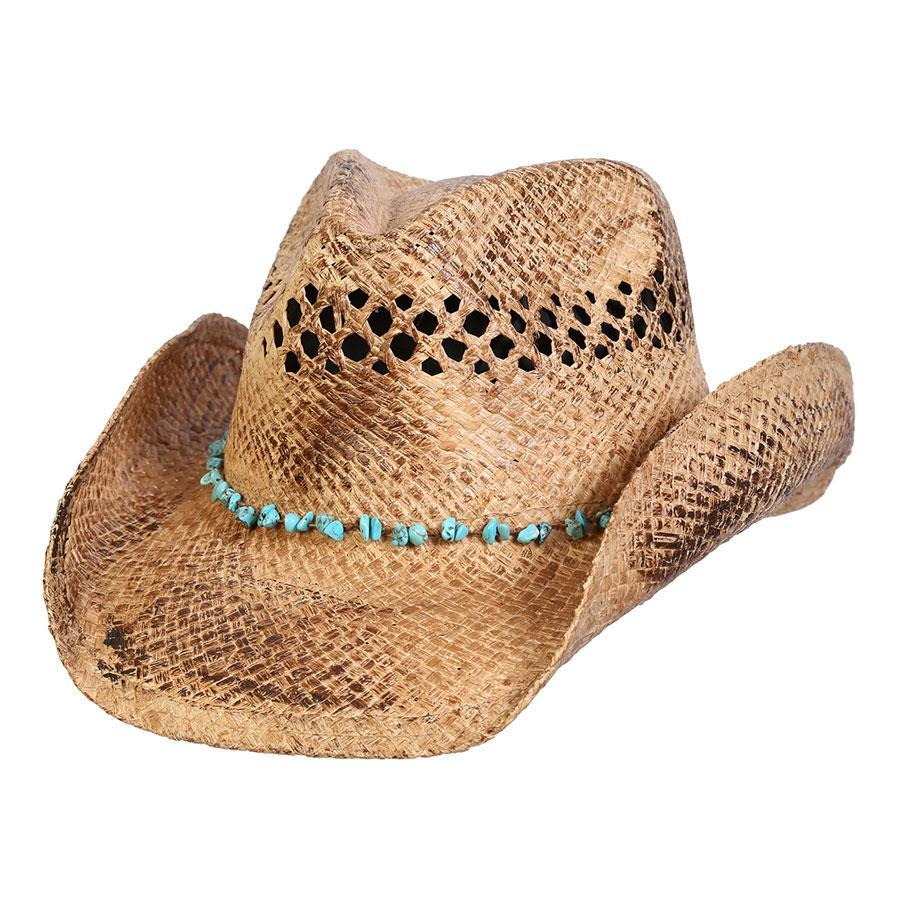 Straw Hat Western Hats Coffee / One Size Durango Turquoise Western Hat