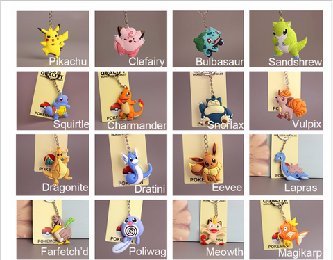 Pokemon: Key Chain Mini's