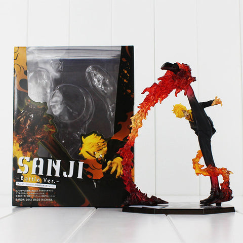 One Piece: Black Leg Sanji Fire Battle Ver. Action Figure