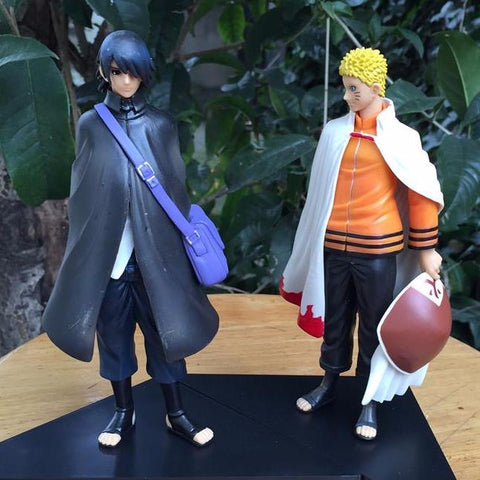 Naruto: Uzumaki Naruto + Uchiha Sasuke Action Figures 2pc/set